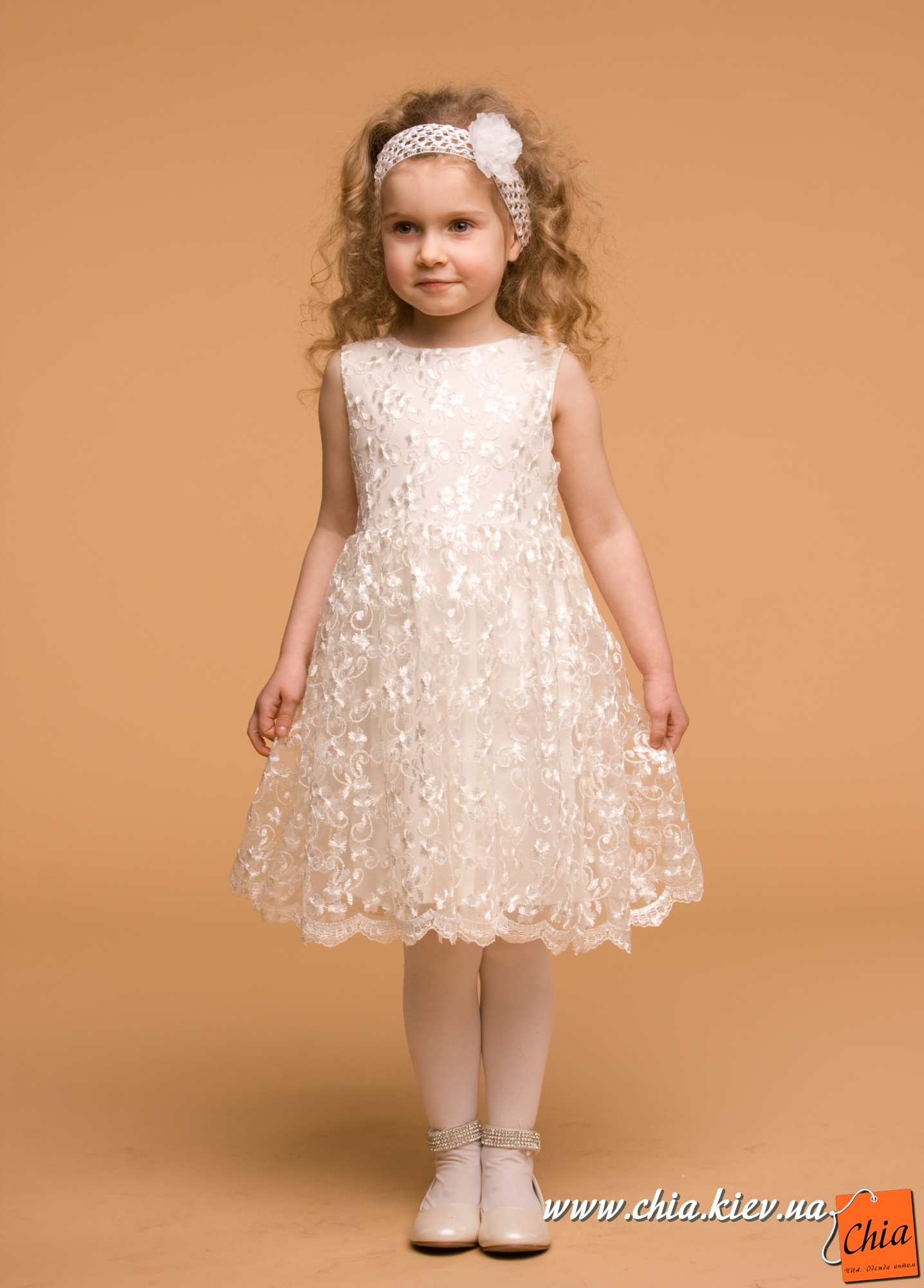 Сшить детское платье из гипюра