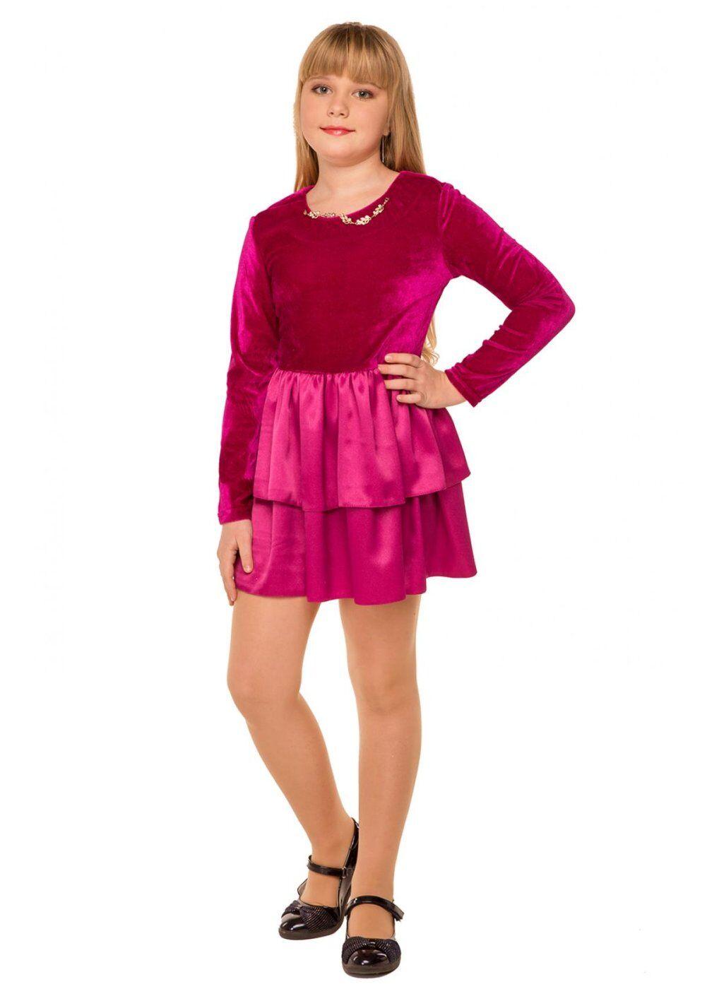 Tashkan: Платье Малинка, малиновый 1730000001 - фото 2