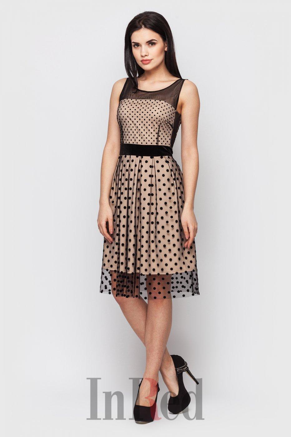 "InRed: Платье ""MELODY"" бежево-черное 7421 - фото 1"