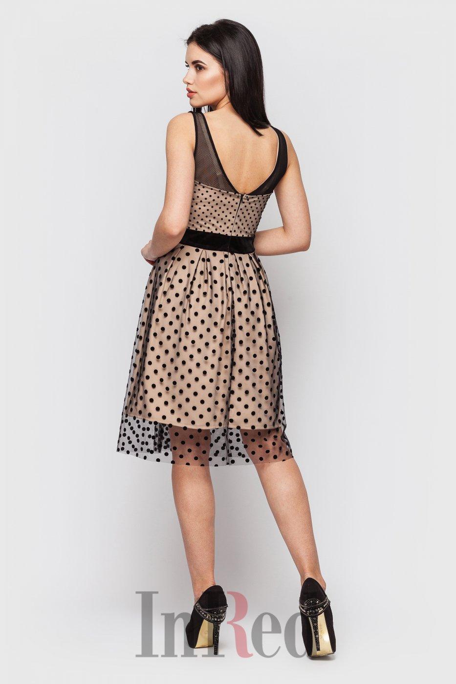 "InRed: Платье ""MELODY"" бежево-черное 7421 - фото 4"