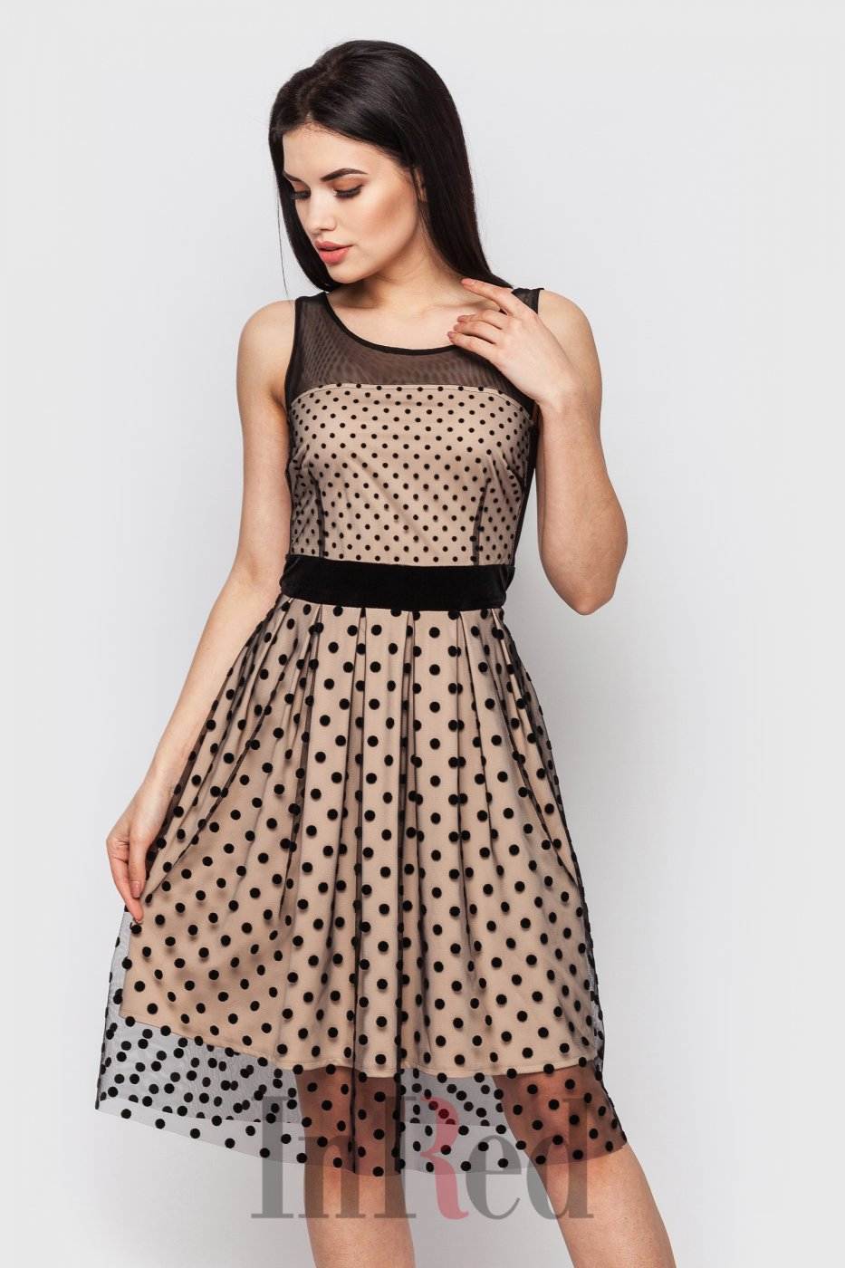 "InRed: Платье ""MELODY"" бежево-черное 7421 - фото 6"