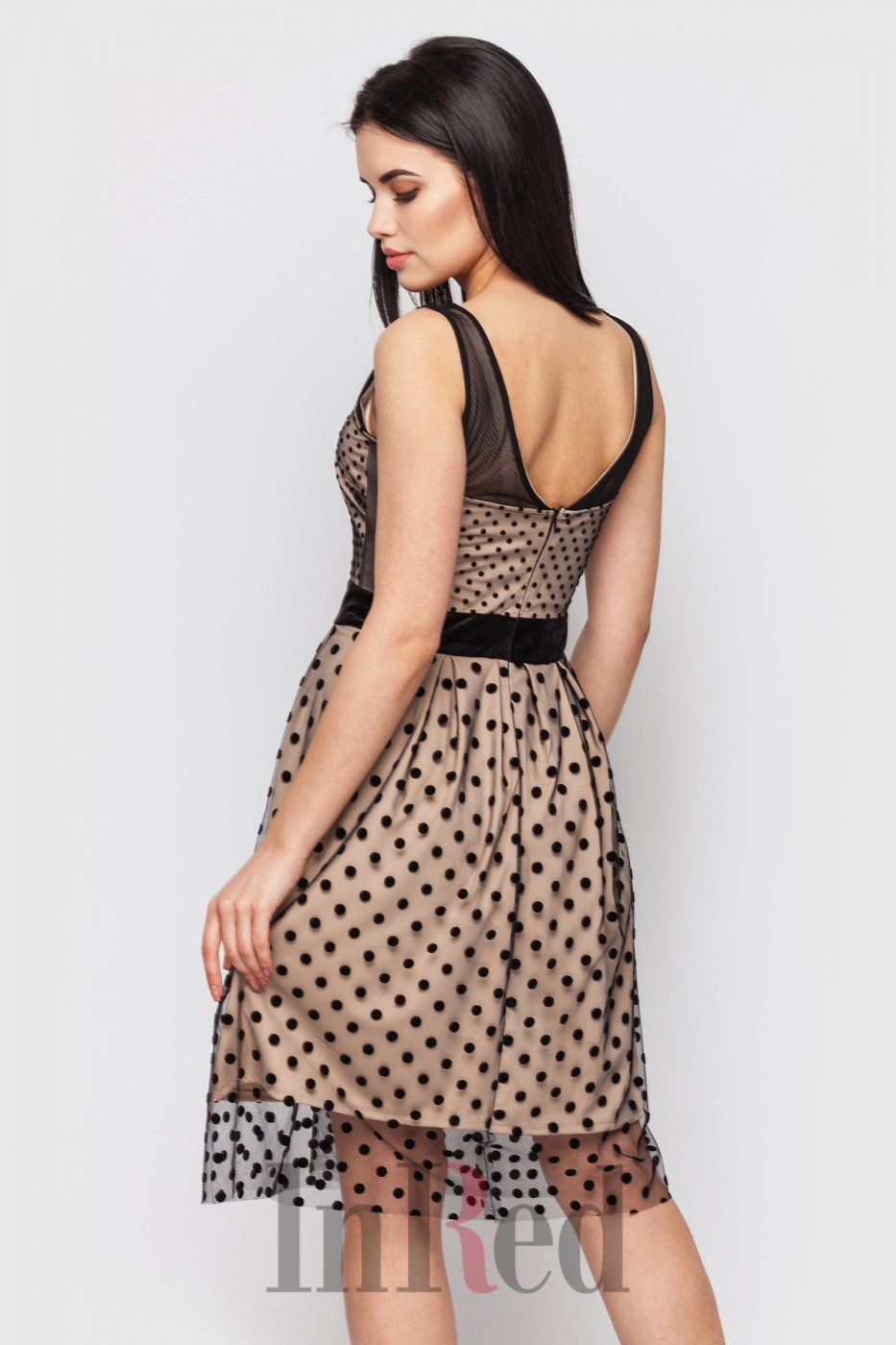 "InRed: Платье ""MELODY"" бежево-черное 7421 - фото 7"