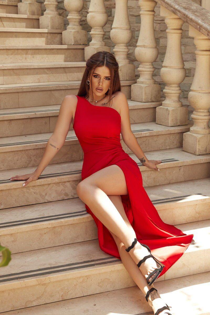 Tivardo: Вечернее платье на одно плечо 7353-05 - фото 1