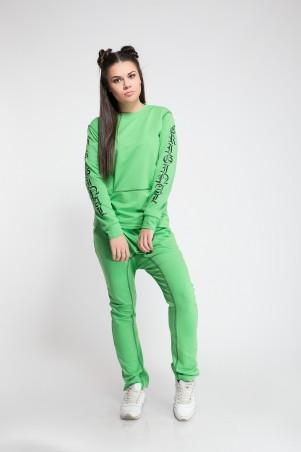 Modna Anka: Спортивный костюм Флок зеленый 211386 - фото 1