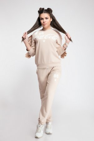 Modna Anka: Спортивный костюм Coca Cola персиковый 211388 - фото 4
