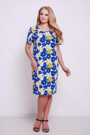 Tatiana: Классическое платье-футляр АДЕЛЬ синее - фото 1