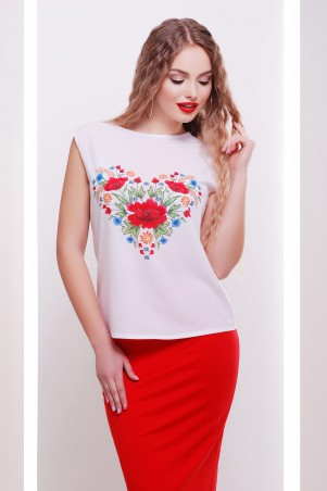 Glem: Цветы-сердце футболка Киви б/р принт p34630 - фото 1