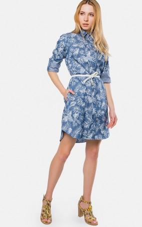 MR520: Платье - рубашка MR 229 2364 0417 Blue Denim - фото 1