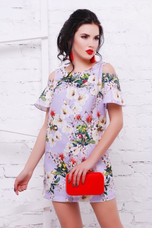 TessDress: Жаккардовое платье с воланами на рукавах «Sugar-2» 1462 - фото 1