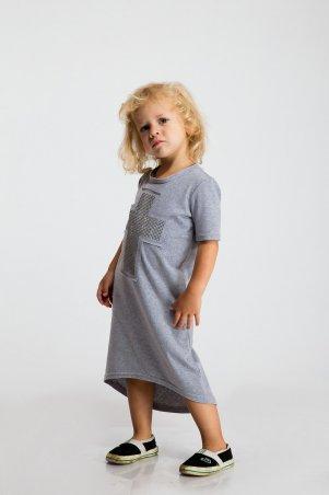 Modna Anka: Детское платье Крест серый 112062 - фото 2
