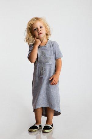 Modna Anka: Детское платье Крест серый 112062 - фото 3