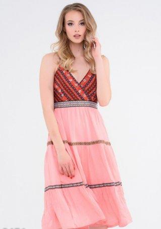 ISSA PLUS: Платья 5476_розовый - фото 1