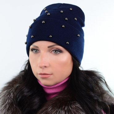 Cherya Group: Шапка L19002 темно-синий - фото 1