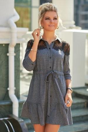 Bisou: Твидовое платье с кружевом 7847  - фото 3