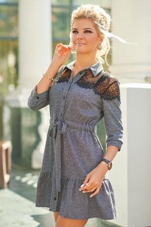 Bisou: Твидовое платье с кружевом 7847  - фото 1