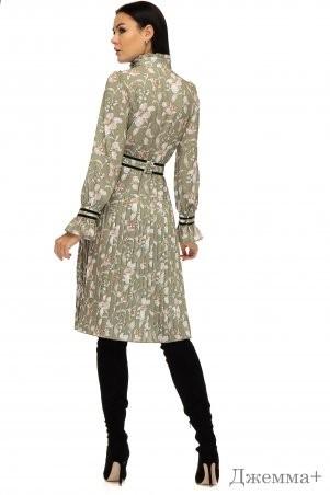 Angel PROVOCATION: Платье ДЖЕММА+ оливковый - фото 2