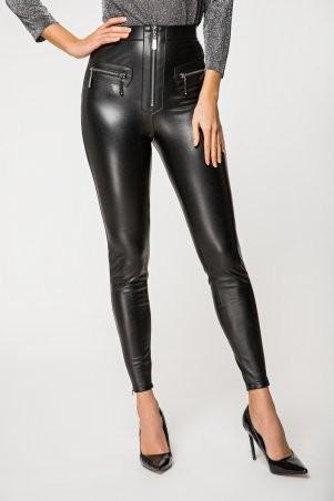 It Elle: Черные кожаные леггинсы на меху Аннджела 4126 - фото 1