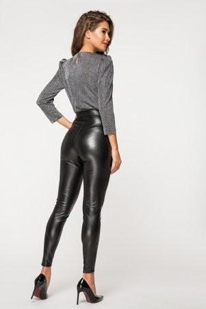 It Elle: Черные кожаные леггинсы на меху Аннджела 4126 - фото 3