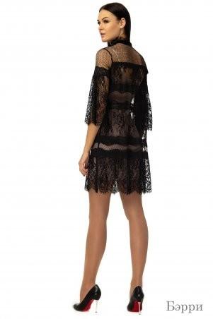 Angel PROVOCATION: Комплект (платье + комбинация) Бэрри черный на бежевом - фото 2
