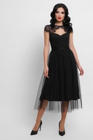 Glem: Платье Флориана к/р черный p53189 - фото 1