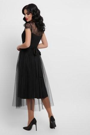 Glem: Платье Флориана к/р черный p53189 - фото 2