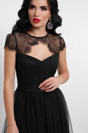 Glem: Платье Флориана к/р черный p53189 - фото 3