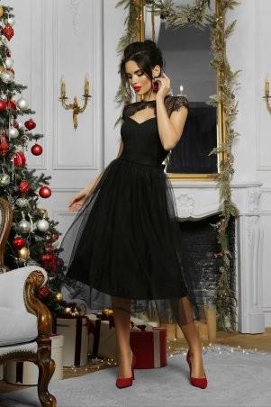 Glem: Платье Флориана к/р черный p53189 - фото 4