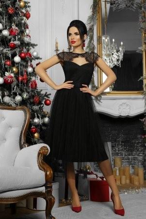 Glem: Платье Флориана к/р черный p53189 - фото 5