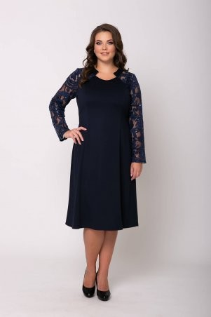 Tatiana: Нарядное платье ДЖУДИТ темно-синее - фото 1
