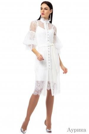 Angel PROVOCATION: Нарядное вечернее платье-двойка АУРИКА молочный - фото 1