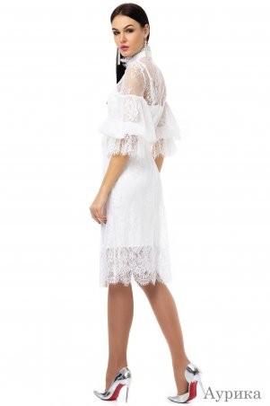 Angel PROVOCATION: Нарядное вечернее платье-двойка АУРИКА молочный - фото 2