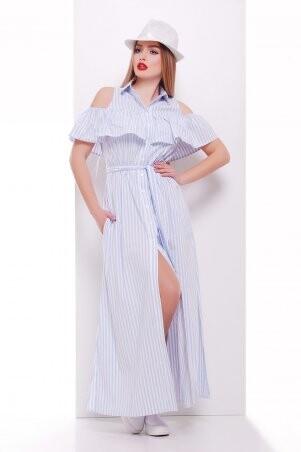 Glem: Платье Лаванья б/р голубая полоска p34680 - фото 1