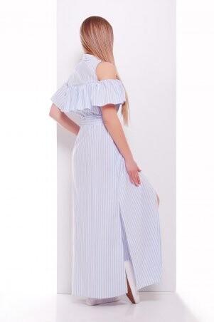 Glem: Платье Лаванья б/р голубая полоска p34680 - фото 2