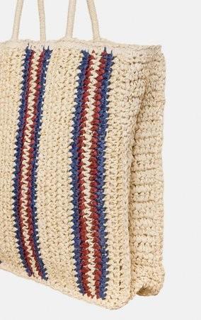 MR520: Плетенная сумка-шопер MR 2222 2371 0220 Wine - фото 2