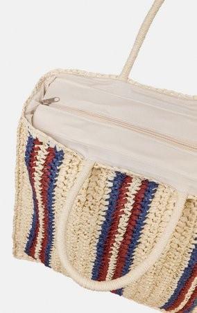 MR520: Плетенная сумка-шопер MR 2222 2371 0220 Wine - фото 5