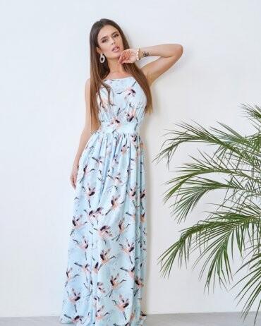 ISSA PLUS: Платья 11773_голубой - фото 1