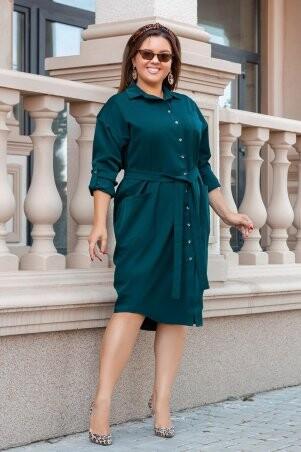 So StyleM: Платье рубашка большого размера с поясом 1219-3 - фото 1