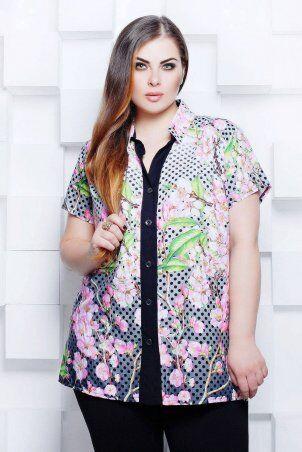 Tatiana: Блуза рубашечного кроя ЭММА серая - фото 1