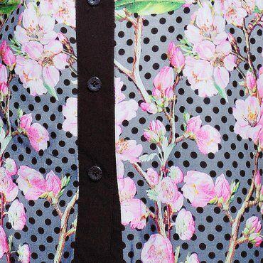 Tatiana: Блуза рубашечного кроя ЭММА серая - фото 2