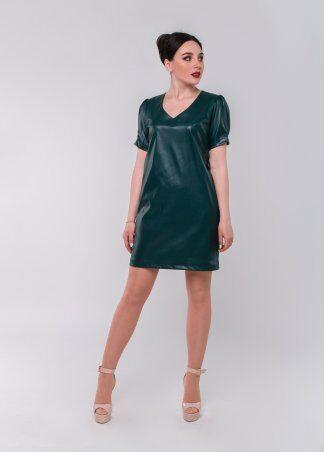 Alpama: Платье Кожа SO-78189-GRN - фото 1