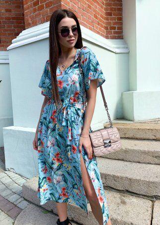 K&ML: Платье летнее средней длины с разрезом 558 - фото 1
