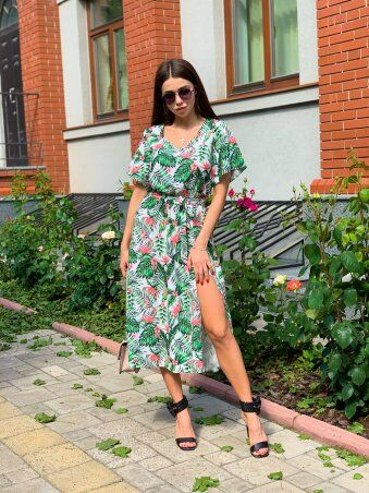 K&ML: Платье летнее средней длины с разрезом 558 - фото 10