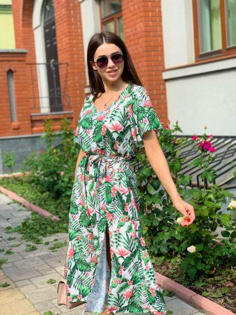 K&ML: Платье летнее средней длины с разрезом 558 - фото 11