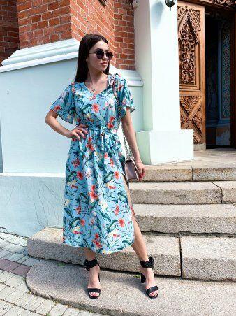 K&ML: Платье летнее средней длины с разрезом 558 - фото 2