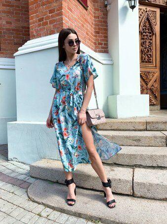 K&ML: Платье летнее средней длины с разрезом 558 - фото 4
