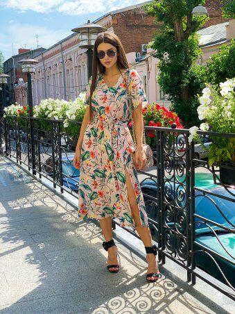 K&ML: Платье летнее средней длины с разрезом 558 - фото 5