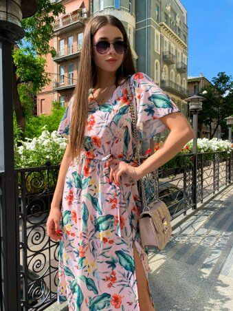 K&ML: Платье летнее средней длины с разрезом 558 - фото 6