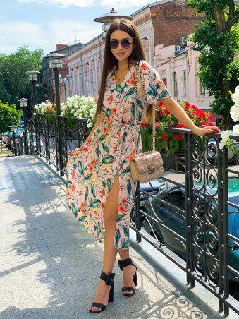 K&ML: Платье летнее средней длины с разрезом 558 - фото 7