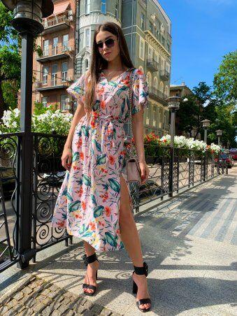 K&ML: Платье летнее средней длины с разрезом 558 - фото 9