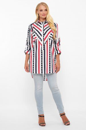 Vlavi: Рубашка Стиль полоса 114615 - фото 2